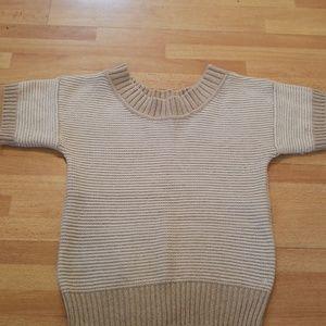 Womens short sleeve sweater